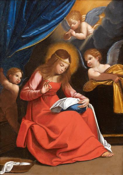 La Vierge cousant avec trois anges - Guido Reni (1575–1642)