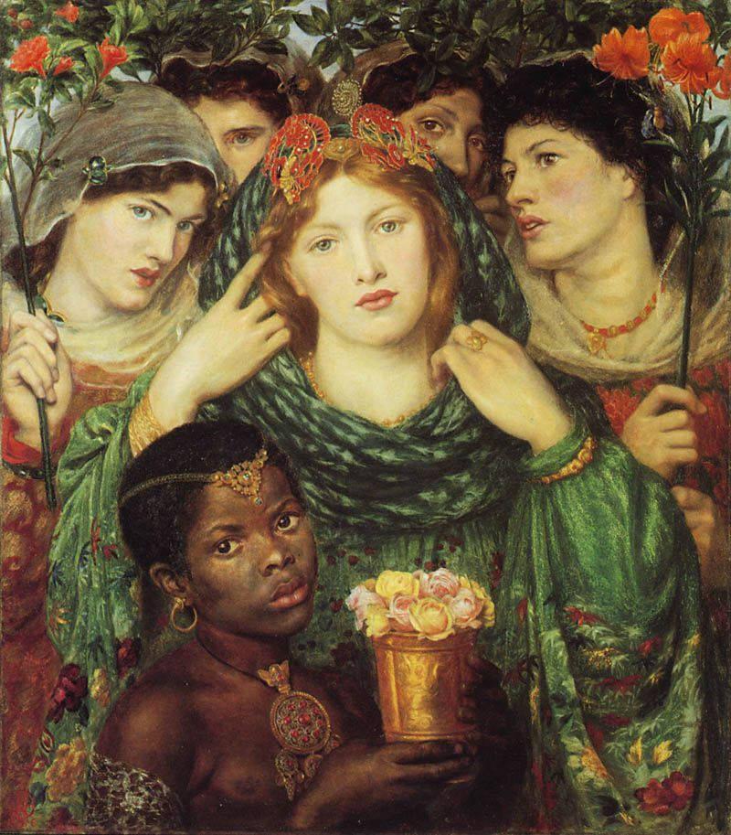 La Bien-aimée par le peintre britannique Dante Gabriel Rossetti 1865 - 1866 Huile sur toile 76,2 × 82,6 cm Tate Britain, Londres